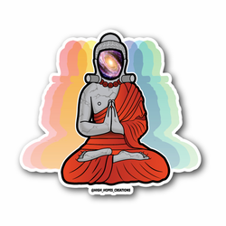 Buddha Galaxy Eyes Vinyl Sticker