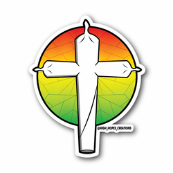 Cross Shaped Joint Vinyl Sticker
