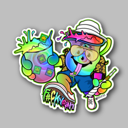 Electric Kool Kid Vinyl Sticker