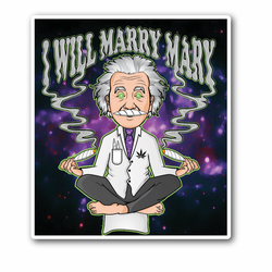 Hightsien With  Two Joints Sticker - I Will Marry Marry Vinyl Sticker
