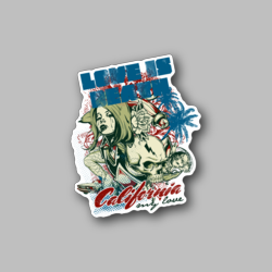 Caf Abbery Road Killer Red - Vinyl Stickers - Gloss Stickers