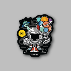 RCH Gift From Outer Space Sticker - Vinyl Stickers - Marijuana Stickers