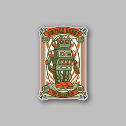 RCH Vintage Robot Sticker - Vinyl Stickers - Marijuana Stickers