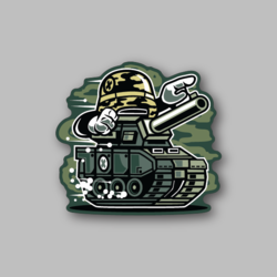 RCH War Tank Sticker - Vinyl Stickers - Marijuana Stickers