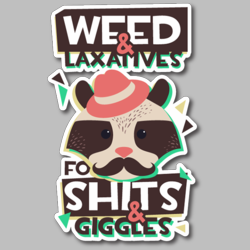 Weed And Laxatives Animal Vinyl Sticker