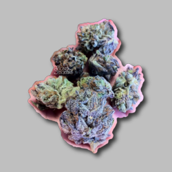 Green Kush Weed Sticker - Marijuana Sticker 002