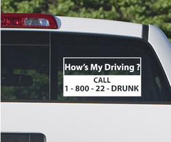 How's My Driving Call 180022Drunk Drugs & Alcohol Vinyl Decal Sticker 004