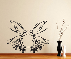 Frog Butterfly Drugs & Alcohol Vinyl Decal Sticker 026