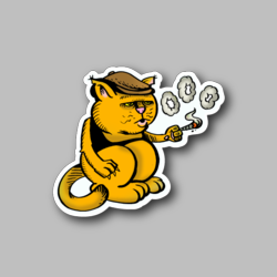 Cool Cat Rings From Joint Vinyl Sticker