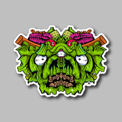Eat Your Greens Vinyl Sticker Weed Sticker - Marijuana Sticker