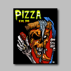Pizza Evil Pie Vinyl Sticker