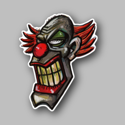 Clown Grinning Vinyl Sticker