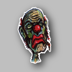 Stoned Clown Vinyl Sticker