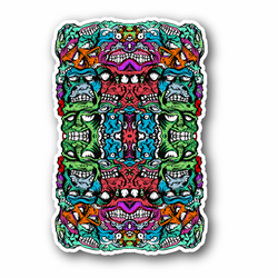 Assorted Scary Skull Vinyl Sticker