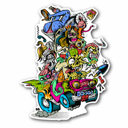 Zombie Party Car Vinyl Sticker
