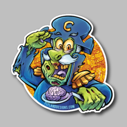 Cap'n Dead Brain Vinyl Sticker
