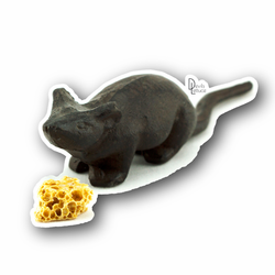 Mouse And Cheese - Devils Lettuce Vinyl Sticker