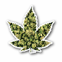 Indica Weed Leaf Vinyl Sticker