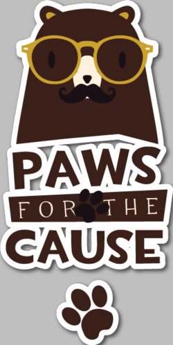 Paws For The Cause Animal Vinyl Sticker