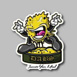 Screaming Dabs - Weed Vinyl Sticker