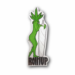 Green Lady With Weed Leaf and Joint Vinyl Sticker