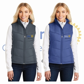 Yelm Rotary Club Port Authority Ladies Puffy Vest. L709.
