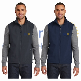 Yelm Rotary Club Port Authority Core Soft Shell Vest. J325.