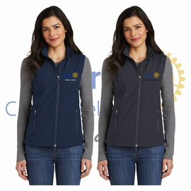 Yelm Rotary Club Port Authority Ladies Core Soft Shell Vest. L325.