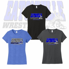 "Eatonville HS Wrestling  District Women's Perfect Tri ""Soft Style"" Tee. DM130L."