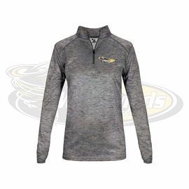 Yelm MS Staff Badger Ladies' Tonal Blend Quarter-Zip Long-Sleeve Pullover. 4173.