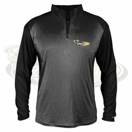 Yelm MS Staff Badger Adult Sport Heather Tonal Quarter-Zip Long-Sleeve Pullover. 4394.