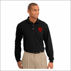 Yelm HS Staff Port Authority Tall Rapid Dry Long Sleeve Polo. TLK455LS.