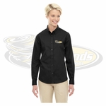 Yelm MS Staff Ash City - Core 365 Ladies' Operate Long-Sleeve Twill Shirt. 78193.