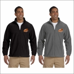 Rainier MS Staff Harriton Men's Tall 8 oz. Full-Zip Fleece. M990T.