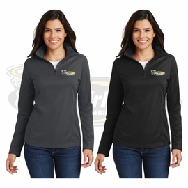 Yelm MS Staff Port Authority Ladies Pinpoint Mesh 1/2-Zip . L806.