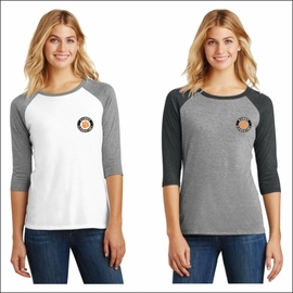 Rainier Elementary Staff District Made Ladies Perfect Tri 3/4-Sleeve Raglan. DM136L.