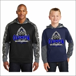 Olympia Silverbacks Mineral Freeze Fleece Colorblock Hooded Pullover. ST231.