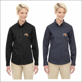 Rainier HS Staff Ash City - Core 365 Ladies' Operate Long-Sleeve Twill Shirt. 78193.