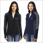 Olympia Silverbacks Ladies Colorblock Microfleece Jacket. L230.