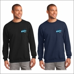 Ridgeline Staff Port & Company Tall Essential Fleece Crewneck Sweatshirt. PC90T.
