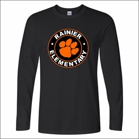 Rainier Elementary Staff Gildan Softstyle Long Sleeve T-Shirt. 64400.