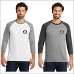 Rainier Elementary Staff District Made Mens Perfect Tri 3/4-Sleeve Raglan. DM136.
