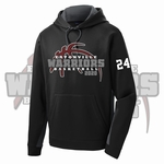 Eatonville Warriors Basketball Colorblock Hooded Pullover. ST235.