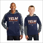 Yelm Twisters Mineral Freeze Fleece Colorblock Hooded Pullover. ST231.