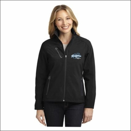 Ridgeline Staff Port Authority Ladies Welded Soft Shell Jacket. L324.