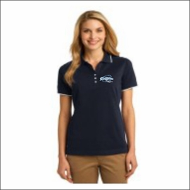 Ridgeline Staff Ladies Short- Sleeve Button-Up Polo. D113W