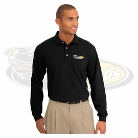 Yelm MS Staff Port Authority Rapid Dry Long Sleeve Polo. K455LS.