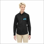 Ridgeline Staff Ash City - Core 365 Ladies' Operate Long-Sleeve Twill Shirt. 78193.