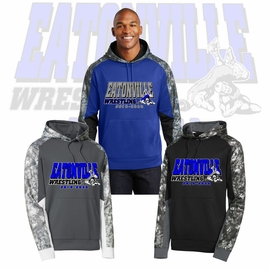 Eatonville HS Wrestling Mineral Freeze Fleece Colorblock Hooded Pullover. ST231.