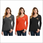 Rainier HS Staff Port & Company Ladies Long Sleeve Fan Favorite V-Neck Tee. LPC450VLS.